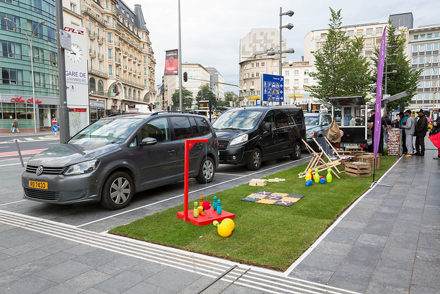 Foto Parkplatz am Parking Day