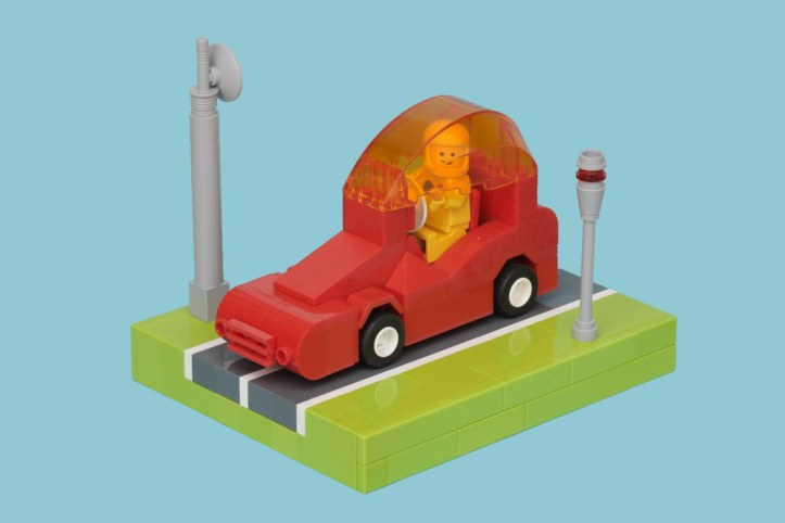 Red Space Car Lego